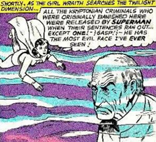 Phantom Girl in the Phantom Zone (Superman DC Comics) during the Silver Age