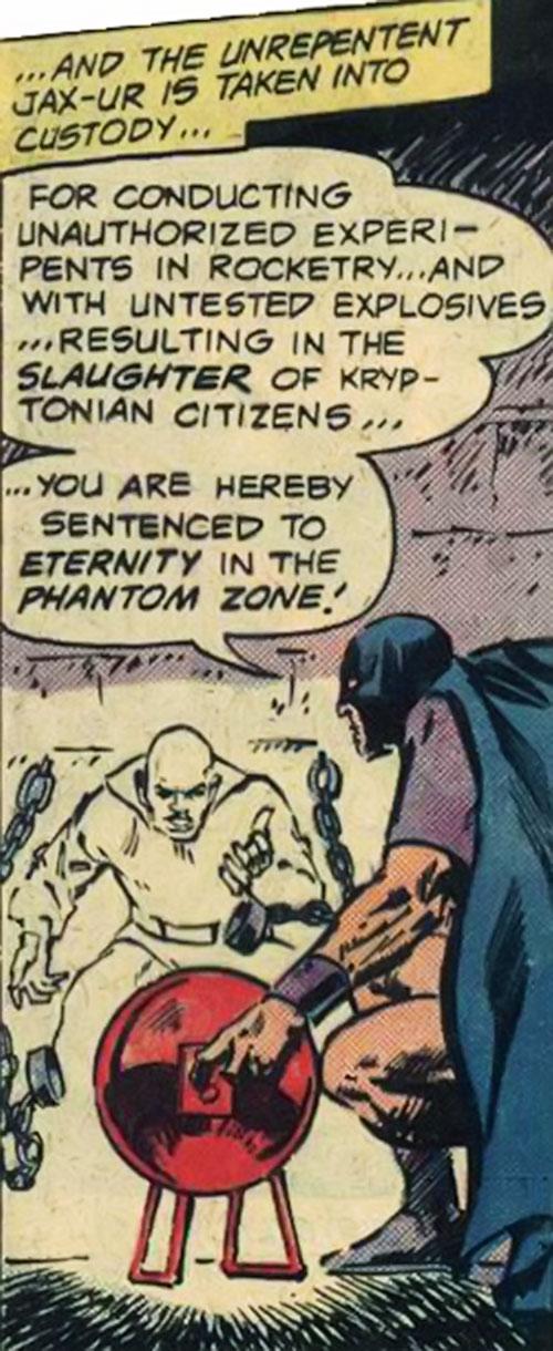 Jax-Ur banished to the Phantom Zone (Superman DC Comics)