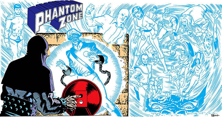 The Phantom Zone executioner uses his projector