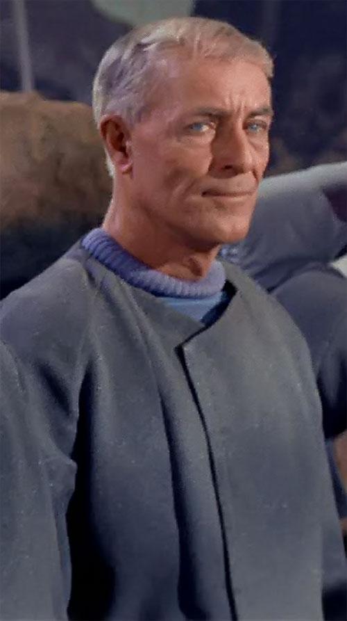 Philip Boyce (John Hoyt in Star Trek) with a gray coat