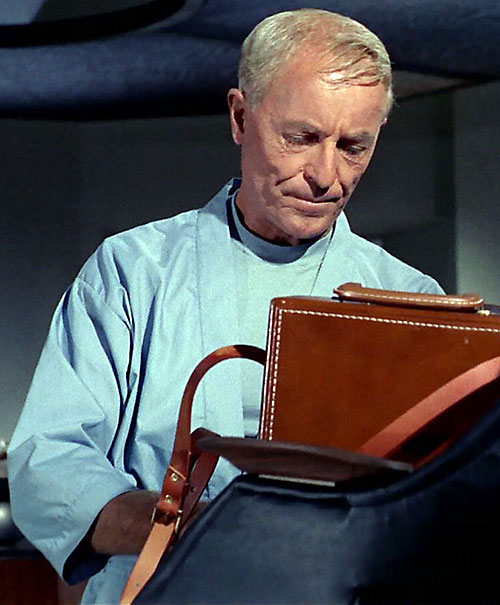 Philip Boyce (John Hoyt in Star Trek) with a leather case
