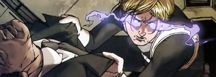 Phobos (Alexander Aaron) using his powers