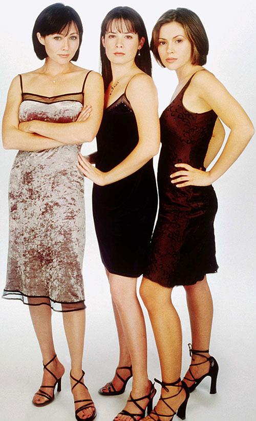 Original Charmed sisters in dresses
