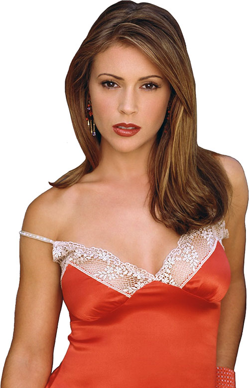 Phoebe Halliwell (Alyssa Milano in Charmed) orange dress