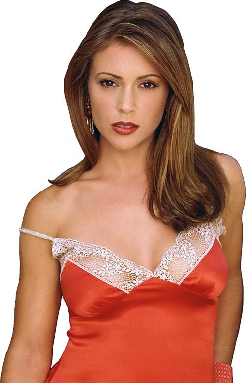 Phoebe Halliwell (Alyssa Milano in Charmed) orange dress