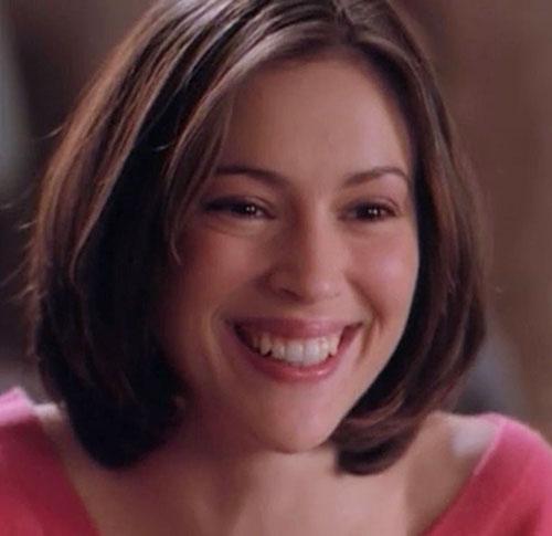 Phoebe Halliwell (Alyssa Milano in Charmed) big smile
