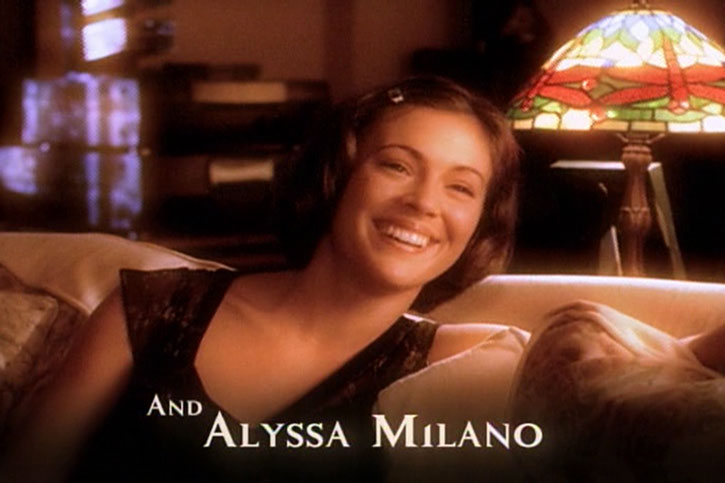 Phoebe Halliwell (Alyssa Milano) during the opening credits