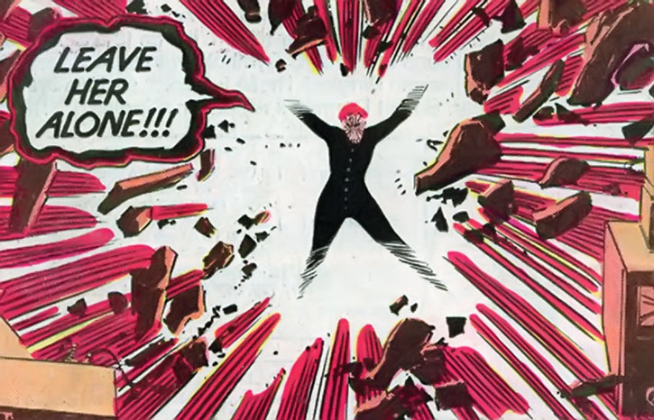 Phoenix (Rachel Summers) releases a telekinetic explosion