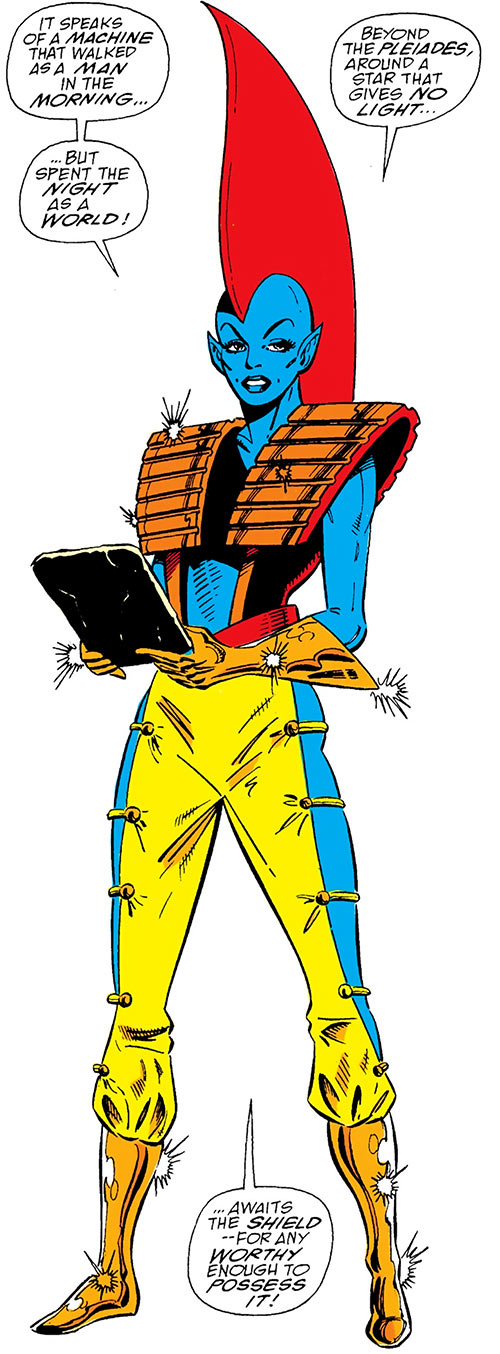 Photon of Centauri - Marvel Comics - Guardians of the Galaxy - Force - Reading a tablet