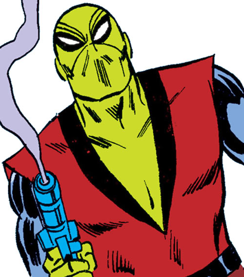 Photon (Nova and Spider-Man enemy) (Marvel Comics) smoking gun