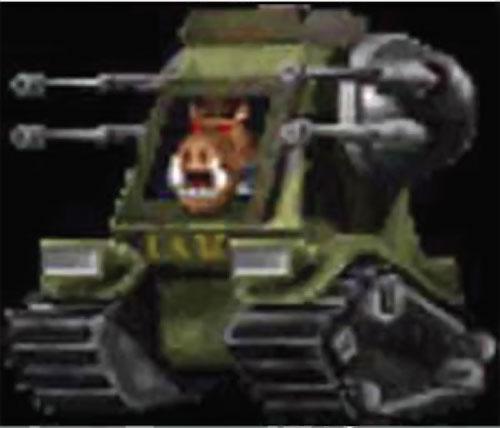 Duke Nukem pig cop in a tank