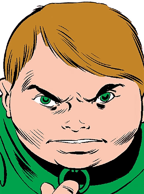 Pinball (Squadron Supreme enemy) (Marvel Comics) face closeup