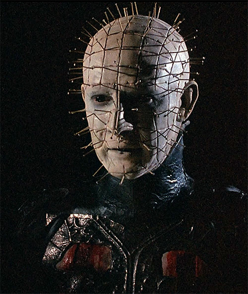 Pinhead (Hellraiser movies) face closeup