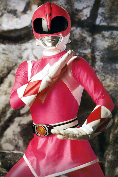 Pink Ranger (Kimberly) of the Mighty Morphin' Power Rangers - martial arts stance
