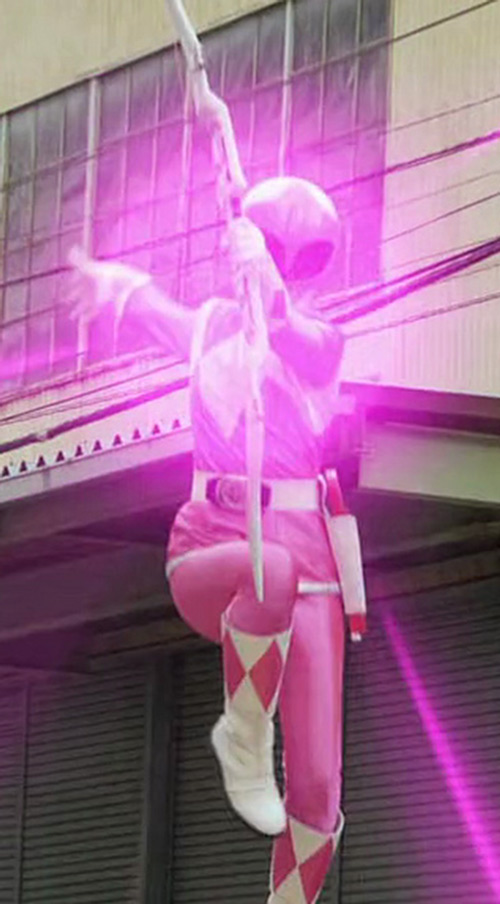 Pink Ranger (Kimberly) of the Mighty Morphin' Power Rangers - pink energy flash
