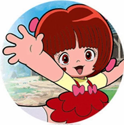 Pinoko waving (Black Jack) (Osamu Tezuka)