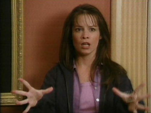 Piper Halliwell (Holy Marie Combs in Charmed) scared