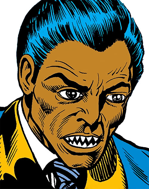 Piranha Jones (Marvel Comics) (Luke Cage enemy) face closeup