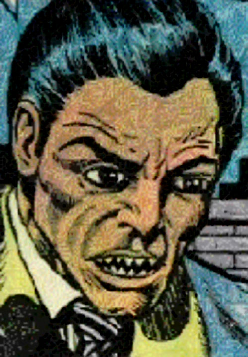 Piranha Jones (Marvel Comics) face closeup