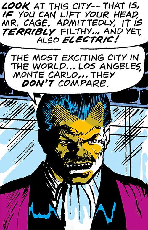 Piranha Jones (Marvel Comics) in a tuxedo