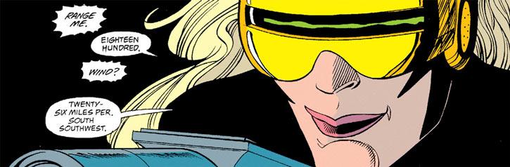 Gunbunny face and goggles closeup