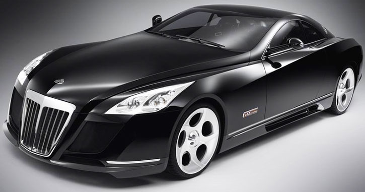 A Maybach Exceleroon a white background