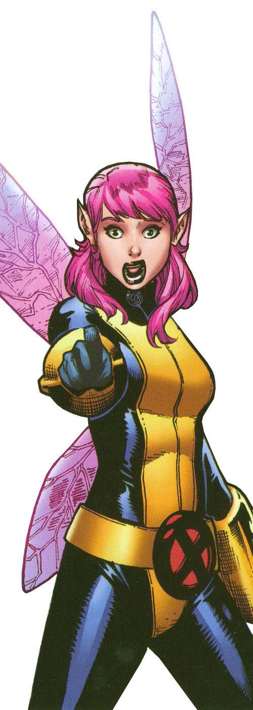 Pixie of the X-Men (Marvel Comics) mouth agape