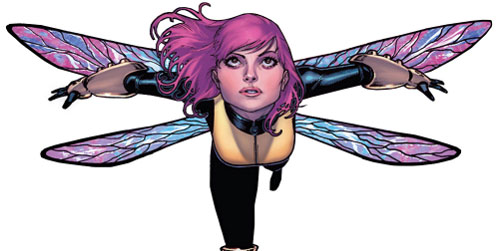 Pixie of the X-Men (Marvel Comics) dragonfly wings