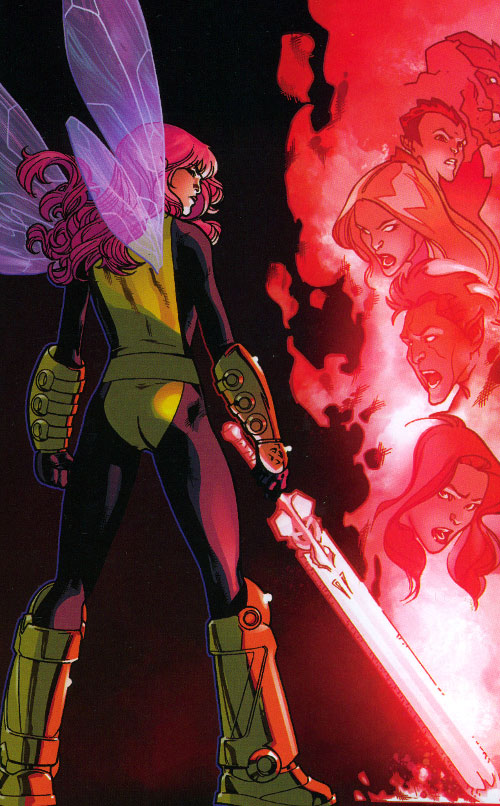 Pixie of the X-Men (Marvel Comics) with the Soulsword