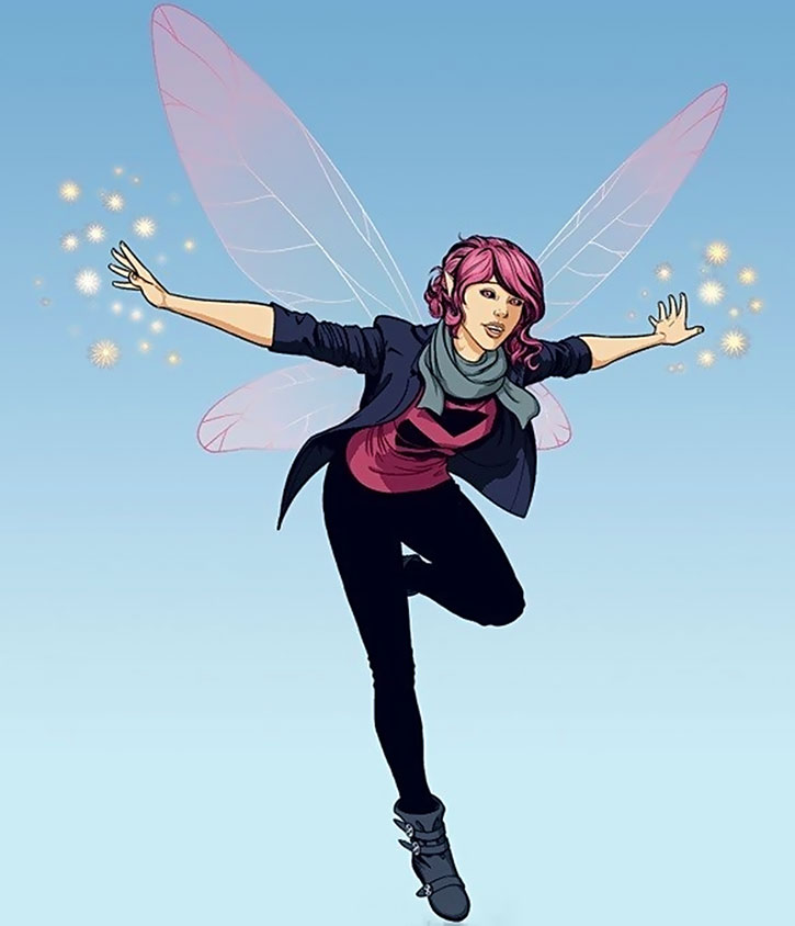Pixie (Megan Gwynn) in flight by Jamie McKelvie