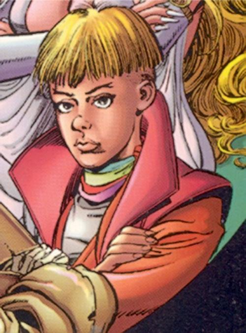 Pixx of Ultraforce (Ultraverse Malibu comics) face closeup