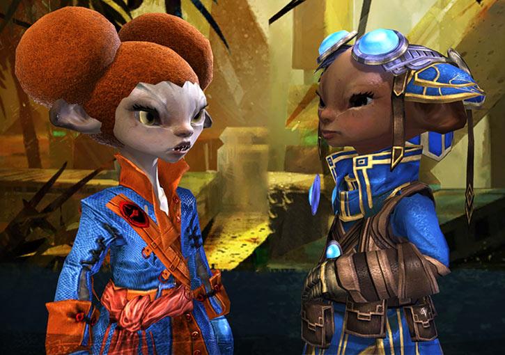Guild Wars II - Asura engineer - Talking with Zojja