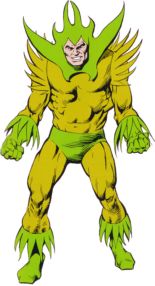 Plantman from the 1983 Marvel Comics handbook