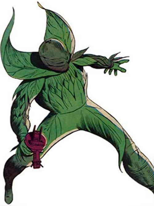 Plantman (Marvel Comics) striding