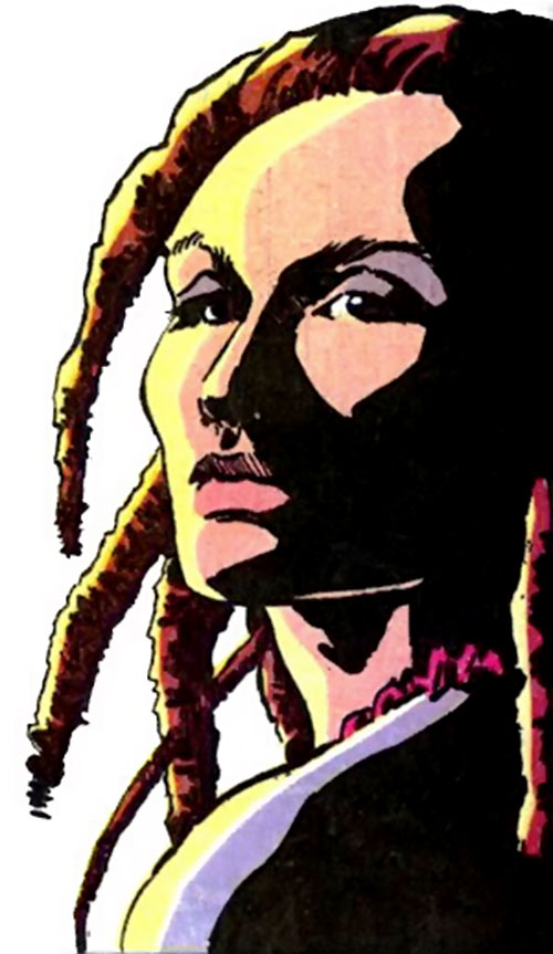 Poison (Spider-Man character) (Marvel Comics) with dreadlocks