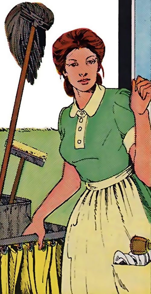 Poison (Spider-Man character) (Marvel Comics) in her civvies as a maid
