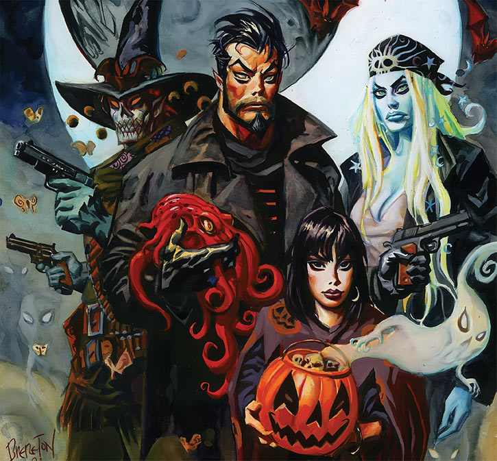 Polychrome (Nocturnals comics) (Dan Brereton) with the Horrors and Gunwitch