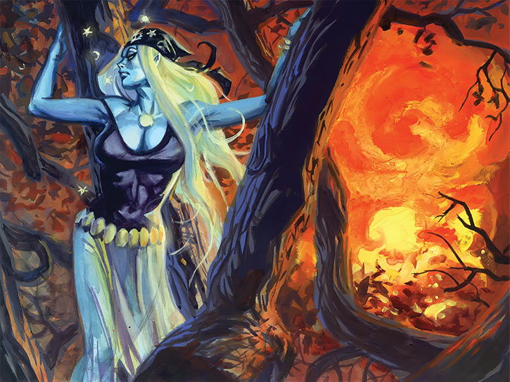 Polychrome (Nocturnals comics) (Dan Brereton) explosion in the woods