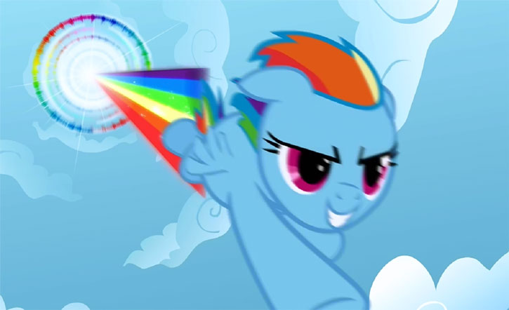 My Little Pony (MLP) - Rainbow Dash sonic rainboom