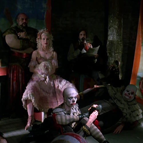 Poodle Lady (Batman Returns 1992 movie) and the gang looking ominous
