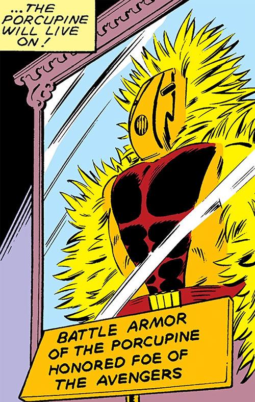 Porcupine (Marvel Comics) (Second suit) memorial case