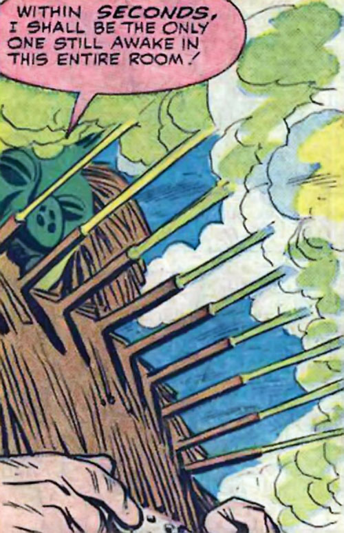 Porcupine (Marvel Comics) fires sleep gas
