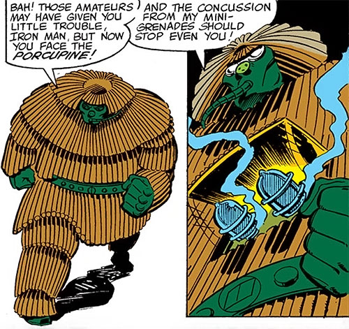 Porcupine (Marvel Comics) with mini-grenades
