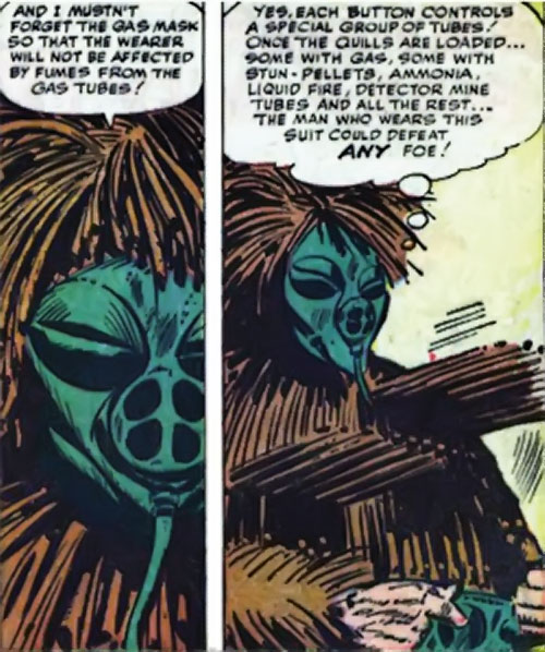 Porcupine (Marvel Comics) test-driving his suit