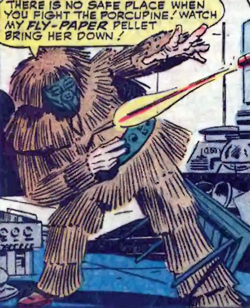 Porcupine (Marvel Comics) fire at the Wasp