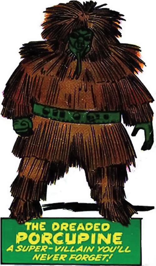 Porcupine (Marvel Comics)'s classic armor
