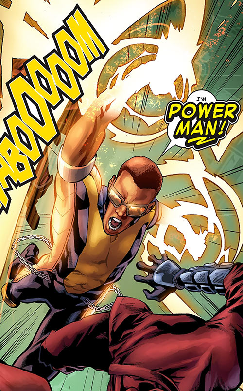 Power Man (Marvel Comics) (Victor Alvarez) fighting Hand ninja