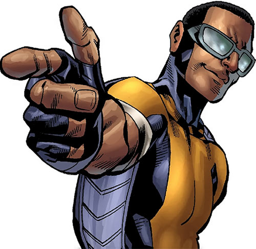 Power Man (Marvel Comics) (Victor Alvarez) pointing and smiling