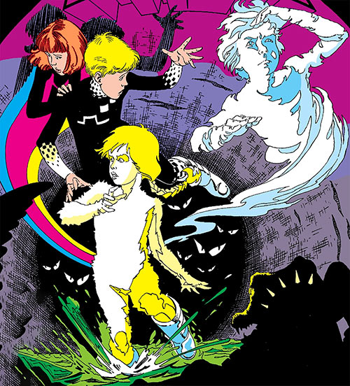 Power Pack (Marvel Comics team) in the sewers