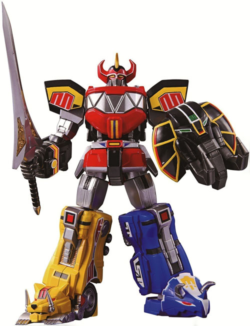 Mighty Morphin' Power Rangers team - MegaZord with shield and sword